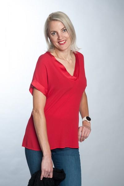 Modische Bluse mit V-Ausschnitt