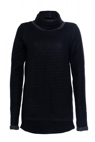 Kastiger Pullover mit breitem Rollkragen