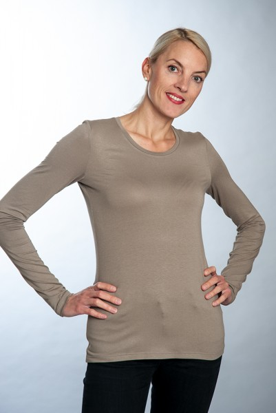 Langarm Basic Shirt in vier Farben