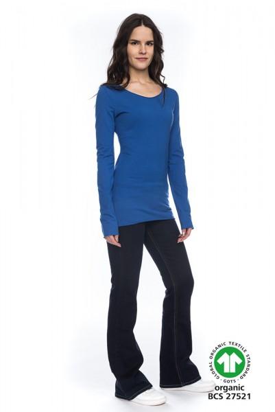 Langarm Shirt ARISTA aus 100% Bio-Baumwolle BLA GOTS zertifiziert