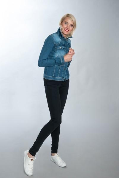 Modische Jeansjacke, tailliert