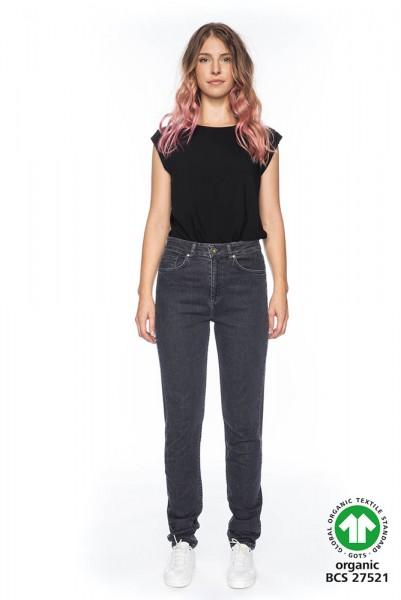 Lange High Waist Jeans KHLOE in 36 Inch aus Bio Baumwolle GOTS zertifiziert