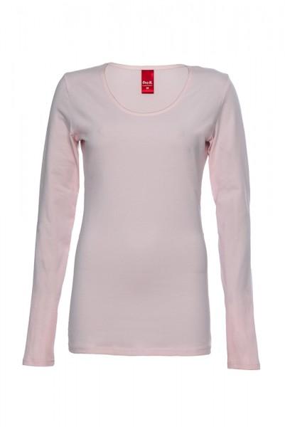 Langarm Basic T-Shirt mit Rundhals