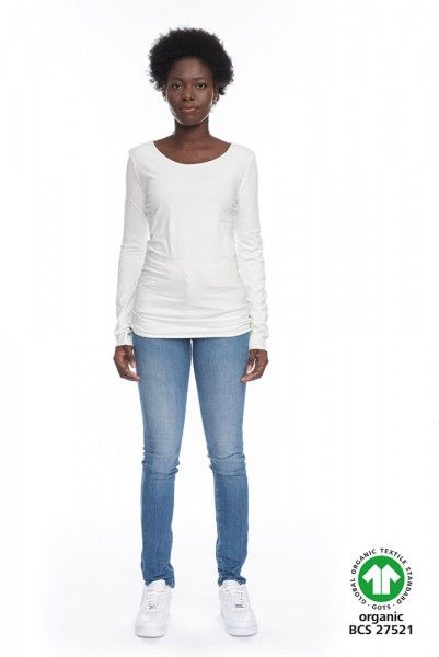 Langarm Shirt ARISTA aus 100% Bio-Baumwolle WHT GOTS zertifiziert