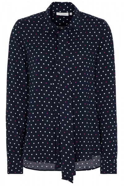 Langarm Bluse mit Punktedruck Modern Classic