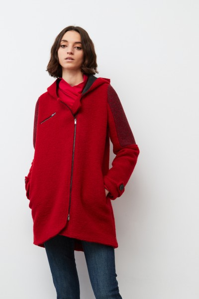 Mantel LEA mit Kapuze