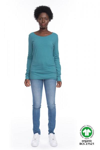 Langarm Shirt ARISTA aus 100% Bio-Baumwolle BLGR GOTS zertifiziert