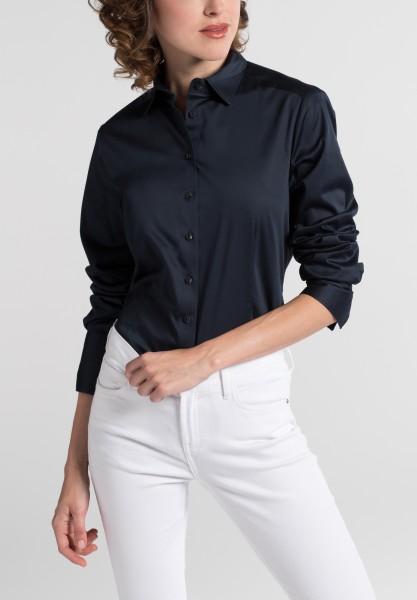 Langarm Bluse mit Satinbindung