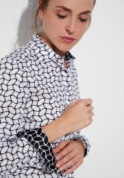 Langarm Bluse Modern Classic gemustert